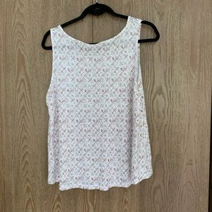 Pink and White Patterned Tank Size Large